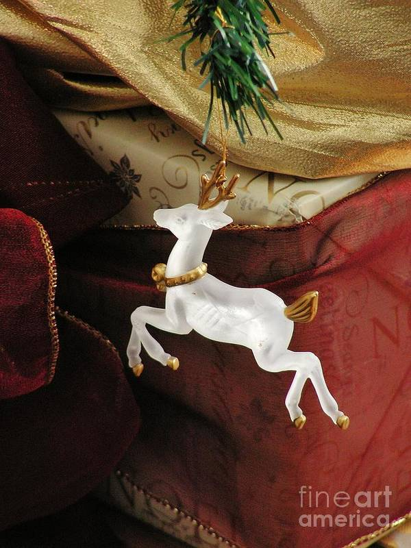 Holiday Art Print featuring the photograph Here Comes Prancer by Joy Bradley