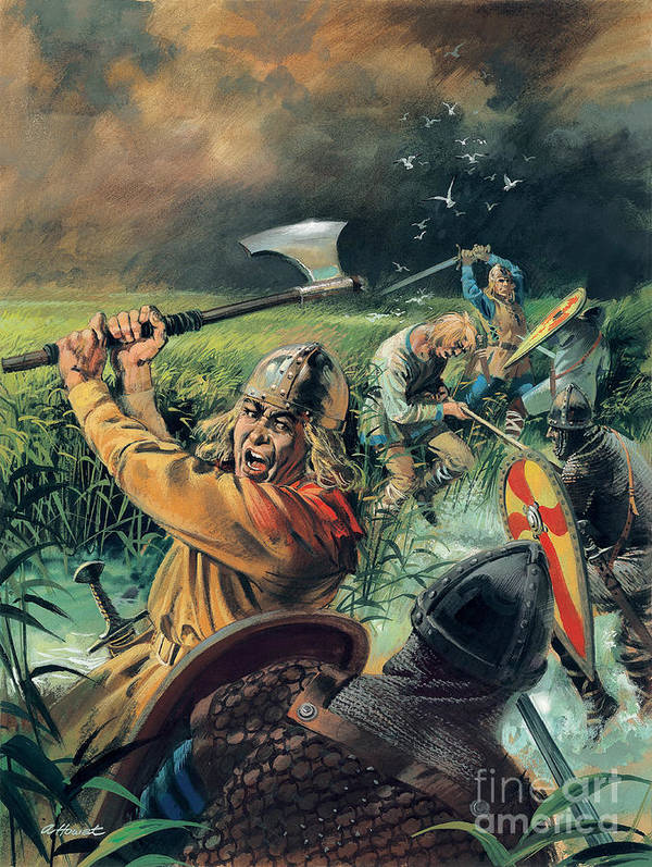 Hereward Print featuring the painting Hereward The Wake by Andrew Howat
