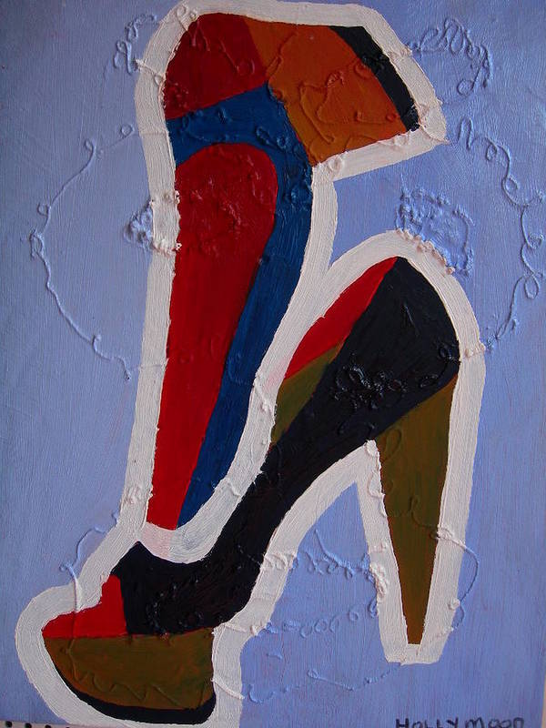 Shoes Art Print featuring the painting Hi Heels by Heinrich Haasbroek
