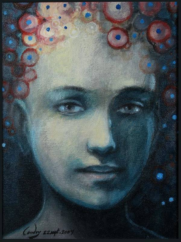 Portrait Art Print featuring the painting Hope by A Coudry