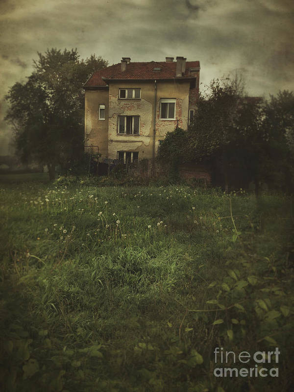 Window Art Print featuring the photograph House In Storm by Mythja Photography