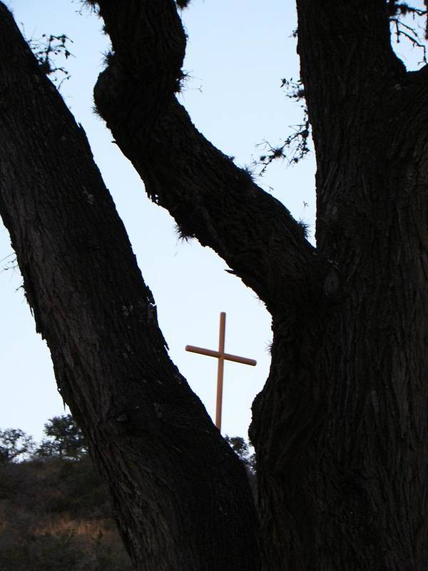Cross Art Print featuring the photograph Hwy 87 Cross One by Ana Villaronga