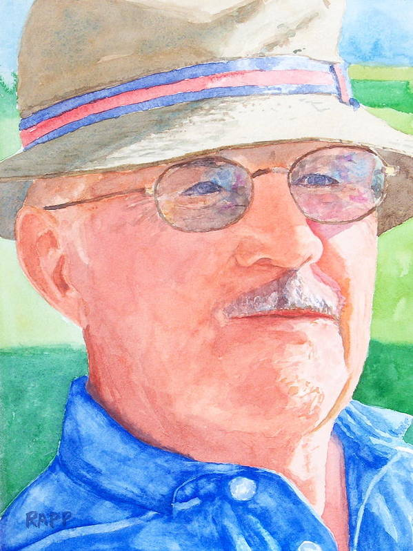 Figure Art Print featuring the painting I Love Golf by Jan Rapp