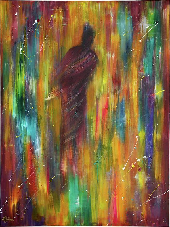 Luminous Art Print featuring the painting Illuminata by Lily Nava