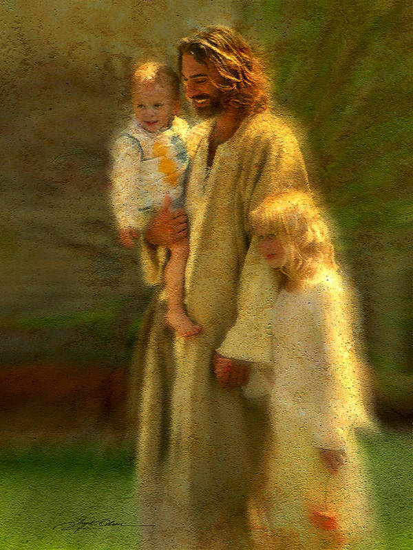 Jesus Print featuring the painting In The Arms Of His Love by Greg Olsen