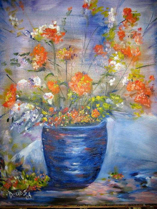 Still Life Art Print featuring the painting Indigo by Impressionist FineArtist Tucker Demps Collection