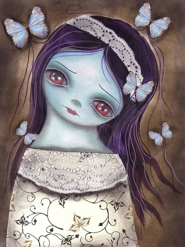 Innocence Art Print featuring the painting Innocence by Abril Andrade Griffith