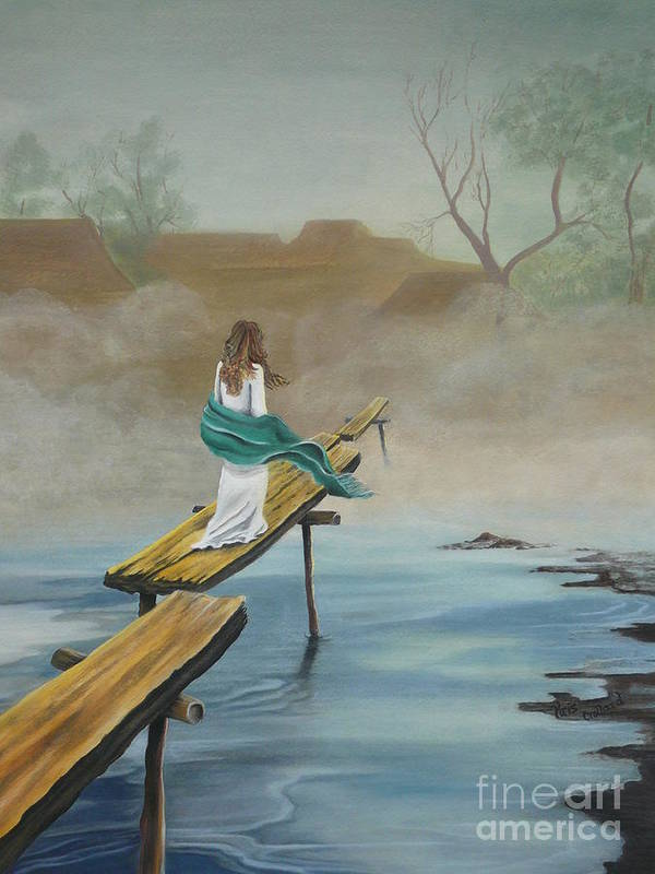 Water Art Print featuring the painting Into The Mist by Kris Crollard