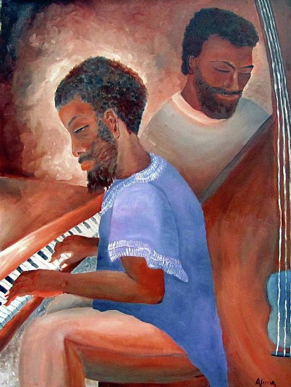 Portrait Art Print featuring the painting Jazzmen by Alima Newton