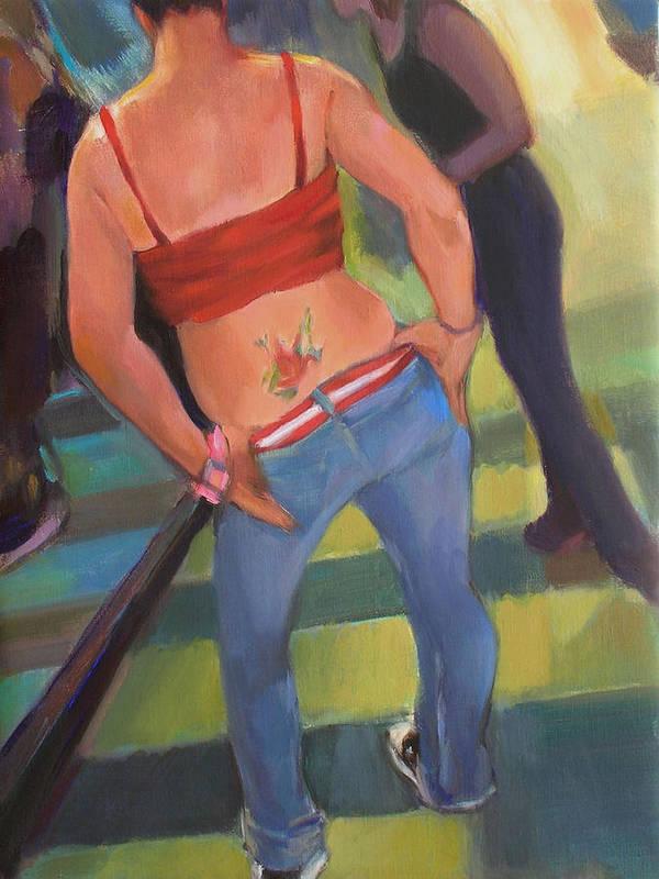 Tatoo Art Print featuring the painting Jen by Merle Keller