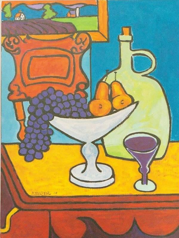 Jug Art Print featuring the painting Jug Of Wine by Nicholas Martori