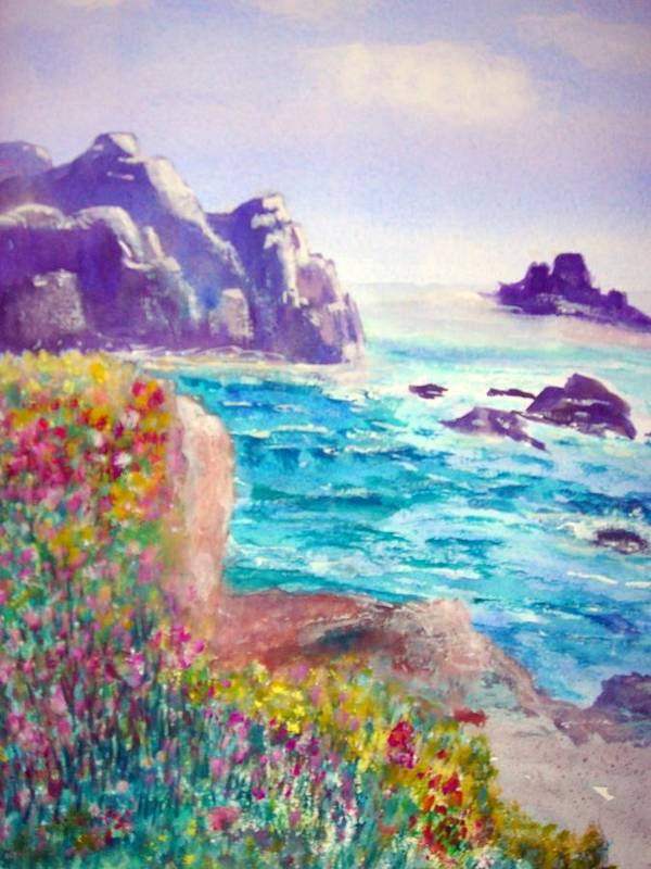Joy Art Print featuring the painting Just Feel. by Janpen Sherwood