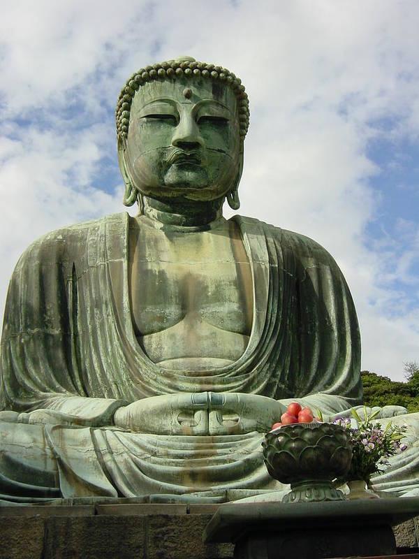 Buddha Art Print featuring the photograph Kamakura Daibutsu by D Turner