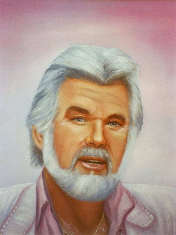 Portrait Art Print featuring the painting Kenny by Joni McPherson