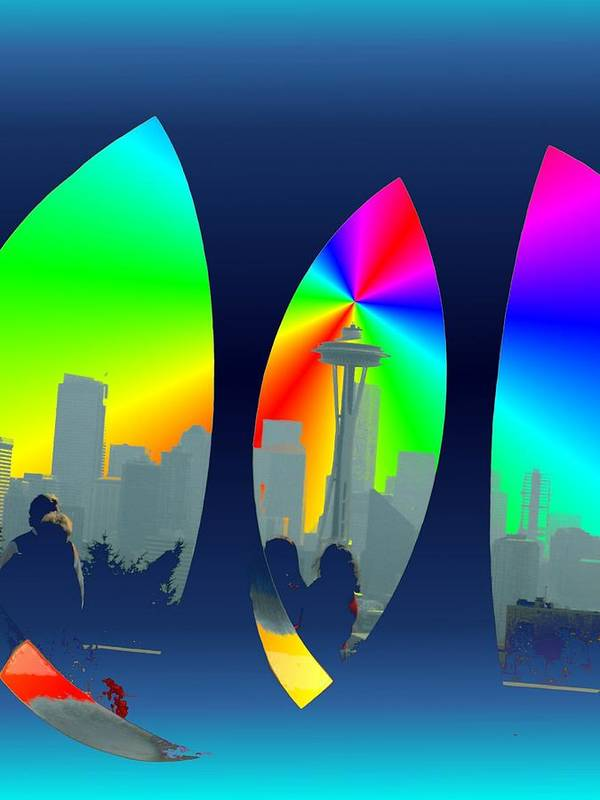 Seattle Print featuring the digital art Kerry Needle 3 by Tim Allen