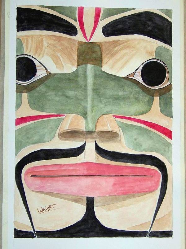Totem Figure Art Print featuring the painting Ketchikan Native by Larry Wright