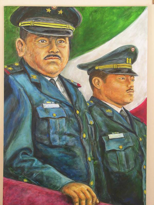 Art Print featuring the painting La Ceremonia De La Bandera by Pat Haley