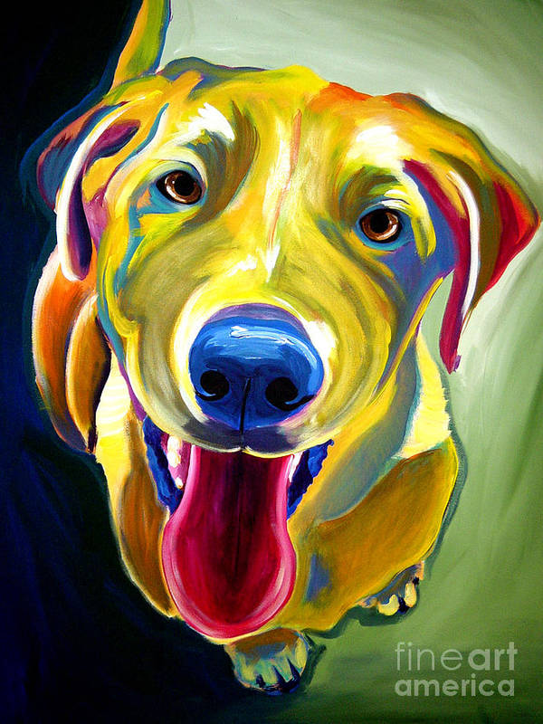 Dog Art Print featuring the painting Lab - Spencer by Alicia VanNoy Call
