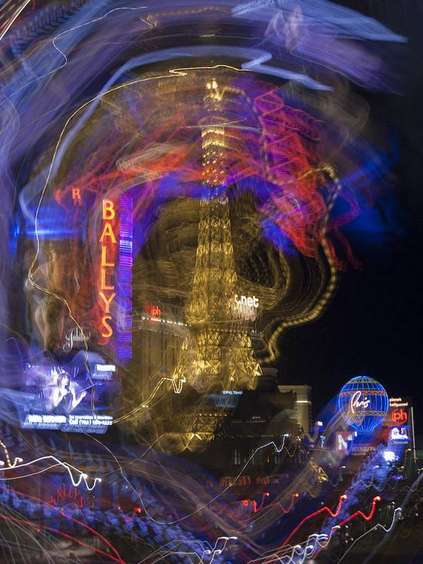 Bally Art Print featuring the photograph Las Vegas Strip 2224 by Bob Neiman