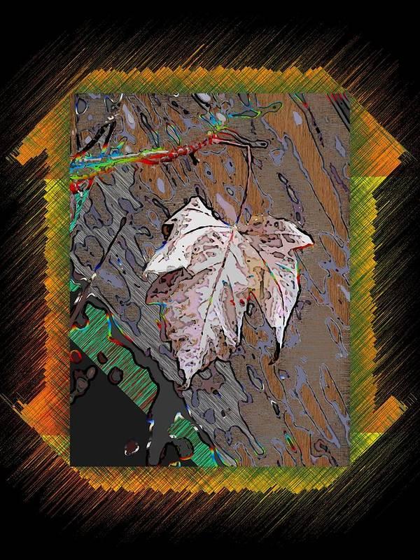 Leaf Art Print featuring the digital art Last Leaf Standing by Tim Allen