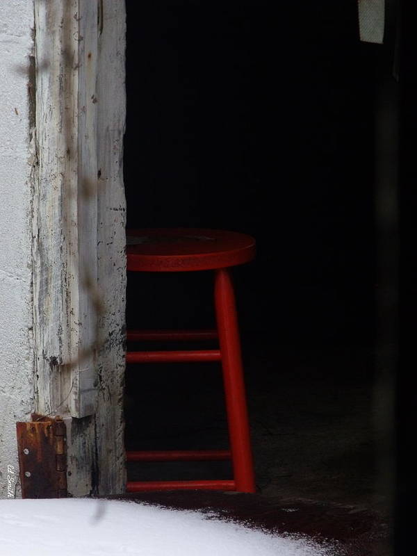 Last Man Standing. Stool Art Print featuring the photograph Last Man Standing by Ed Smith