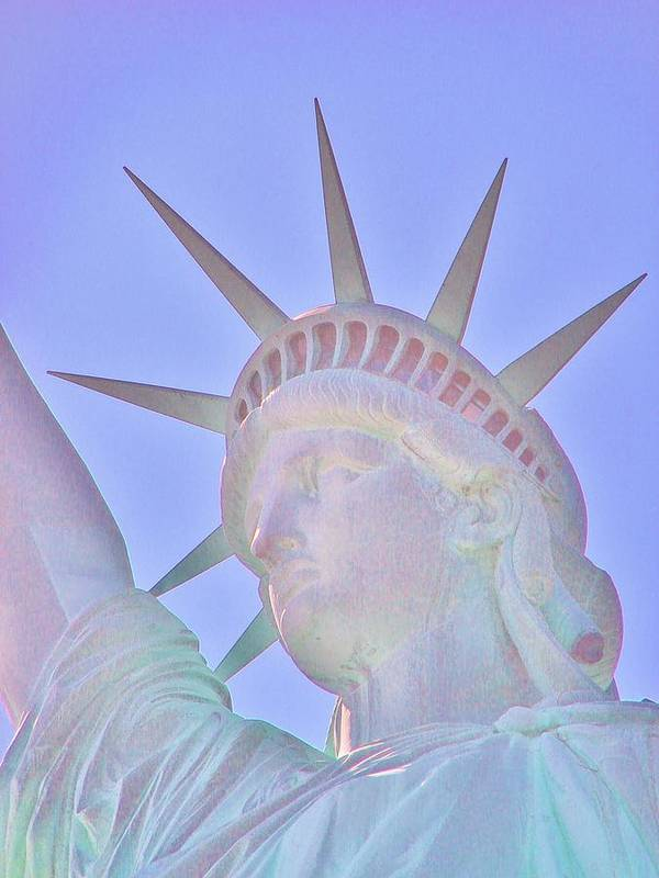 Statue Of Liberty Art Print featuring the photograph Liberty Glows by Margaret Bobb