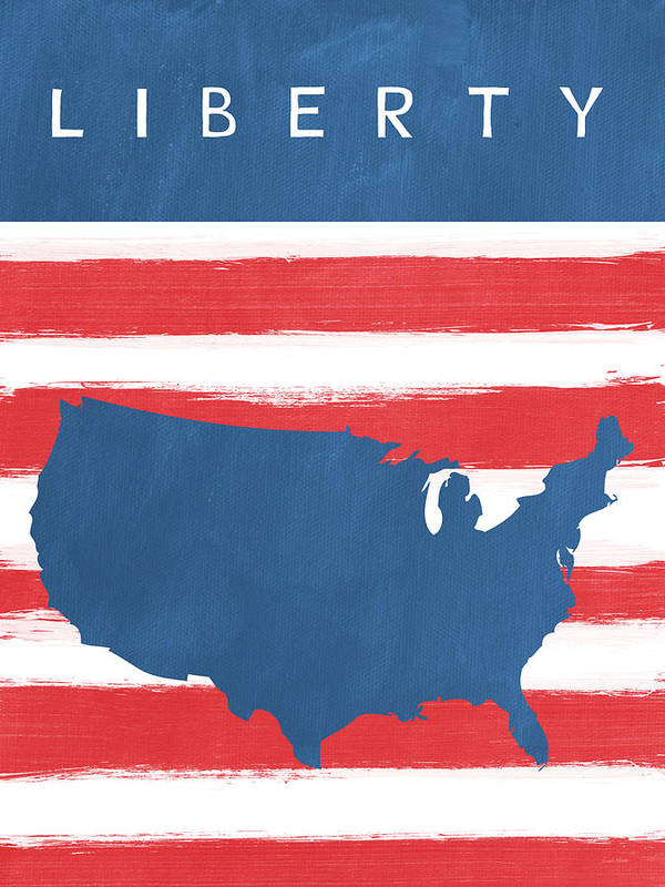 Liberty Art Print featuring the painting Liberty by Linda Woods