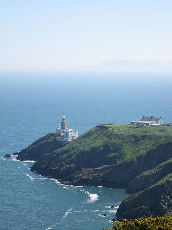 Lighthouse Art Print featuring the photograph Lighthouse Howth by Marlou Charlotte De Win