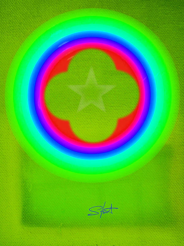 Abstract Art Print featuring the painting Lime by Charles Stuart