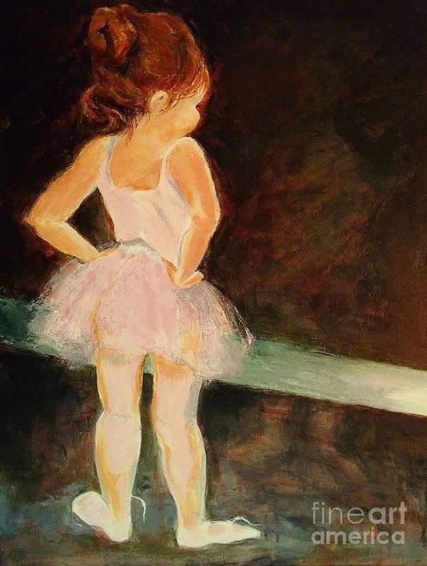 Ballerina Art Print featuring the painting Little Ballerina by Madeleine Holzberg