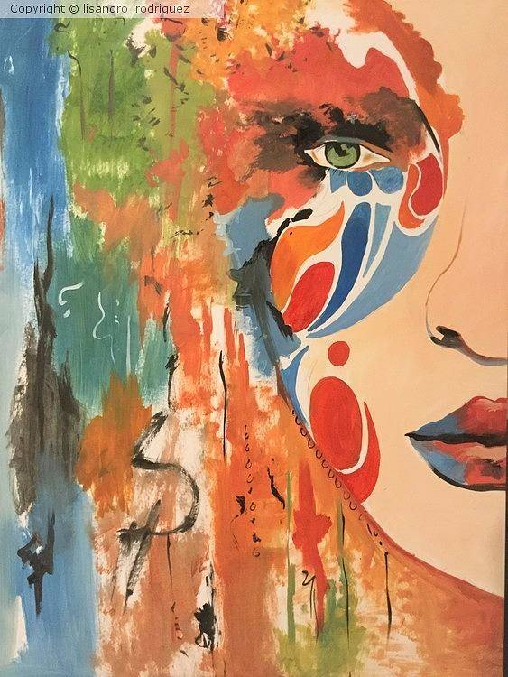 Art Print featuring the painting Living In Color by Lisandro Rodriguez