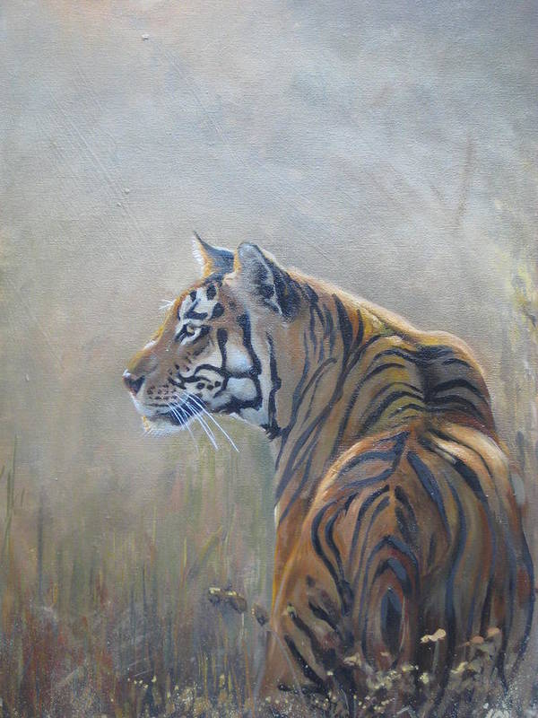 Animal Life Art Print featuring the sculpture Look Out by Todd Gates