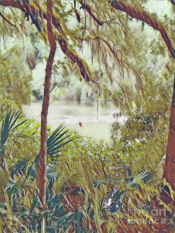 Paintography Art Print featuring the digital art Lowcountry Summer by Melissa McInnis