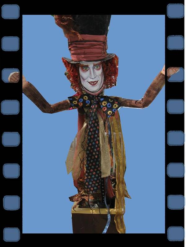 johnny Depp Art Print featuring the mixed media Mad As A Hatter by Cathi Doherty