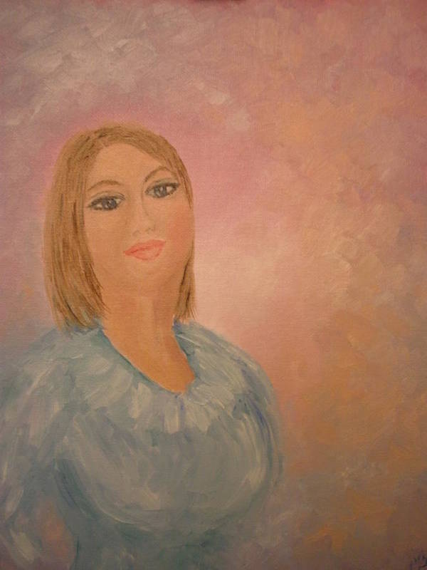 Portrait Art Print featuring the painting Maggie by Carrie Mayotte
