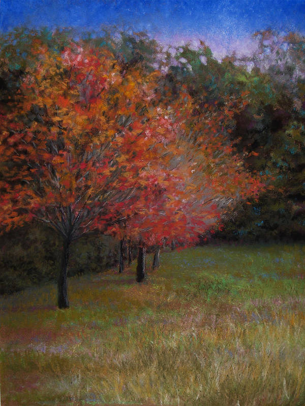 Landscape Art Print featuring the painting Mama's Dogwoods by Susan Jenkins