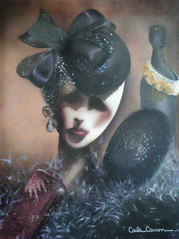 Airbrush Art Print featuring the painting Mannequin Glitz N Glamour by Carla Carson