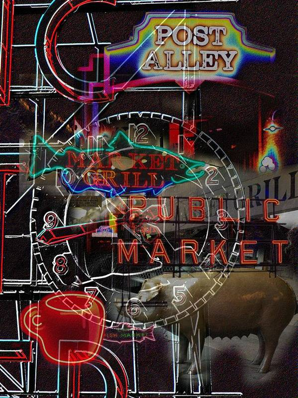 Seattle Art Print featuring the photograph Market Medley by Tim Allen