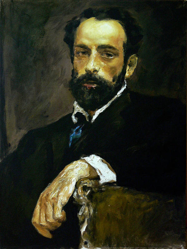 Man Art Print featuring the painting mavloVserov by Valeriy Mavlo
