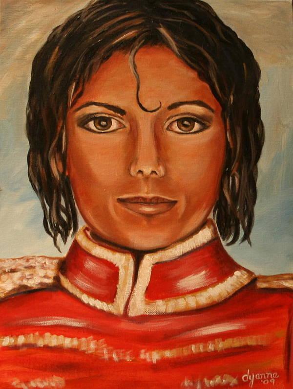 Michael Jackson Art Print featuring the painting Michael Jackson by Dyanne Parker