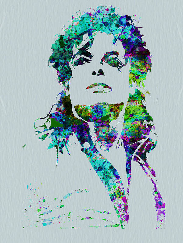 Michael Jackson Print featuring the painting Michael Jackson by Naxart Studio