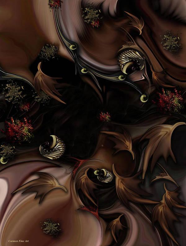 Nature Art Print featuring the digital art Mind-bending Nature by Carmen Fine Art