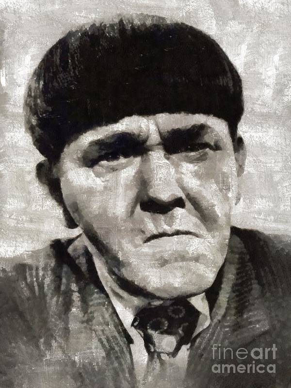 Hollywood Art Print featuring the painting Moe Howard, Vintage Entertainer by Mary Bassett