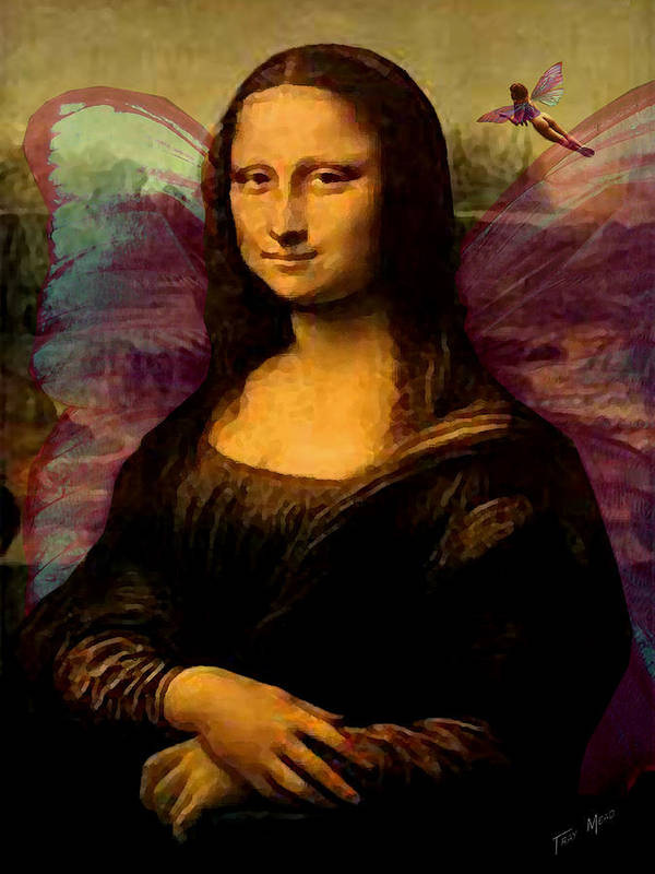 Monalisa Art Print featuring the painting Monalisa The Fairy by Tray Mead