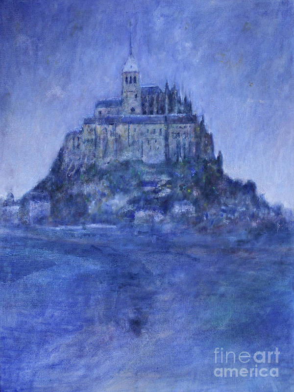 Mont St Michel Art Print featuring the painting Mont St Michel by Andy Mercer