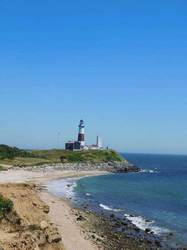 Montauk Art Print featuring the photograph Montauk Lighthouse by Shelby Bryson