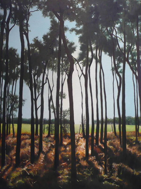 Trees Art Print featuring the painting Morning Walk. by Caroline Philp