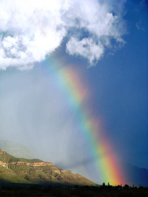Rainbow Art Print featuring the photograph Mountain Rainbow by Brenda Purvis