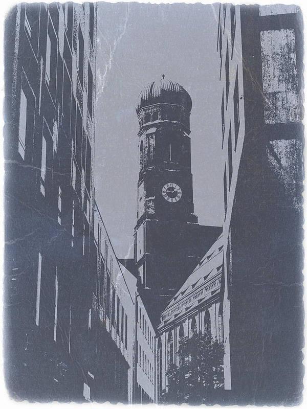 Art Print featuring the photograph Munich Frauenkirche by Naxart Studio
