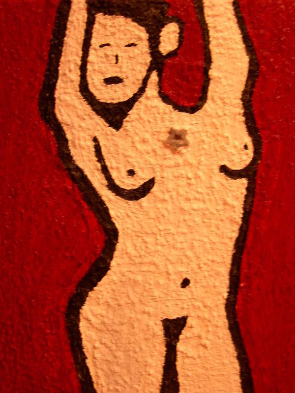 Nude Art Print featuring the painting My Girlfriend by Heinrich Haasbroek